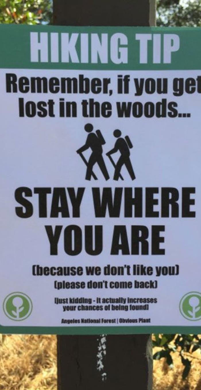 Hiking Tip