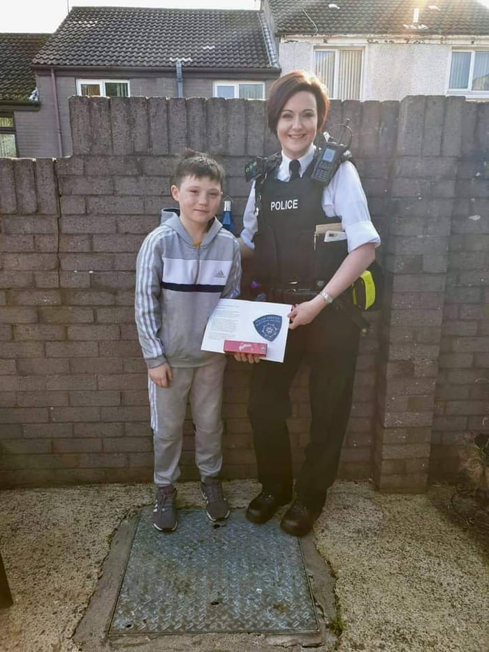 This is Tiernan McCready. In Bogside, UK He saw three males grab an 18 year old girl and try to get her in their van. He reacted instantly and shouted at the males, led the girl to safety and asked his mother to call the police.