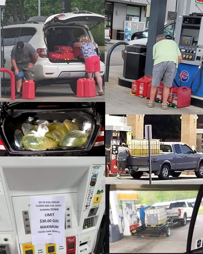 Gasoline hording is the new toilet paper hording...never change America -_-