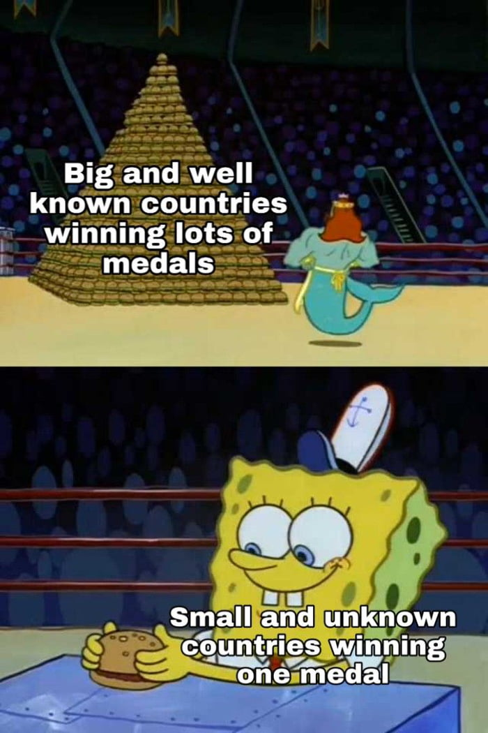 A win for a small country > a win for a big country