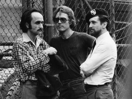 John Cazale, Christopher Walken & Robert de Niro in sets of The Deer Hunter (1978) ......De Niro arguably with his best look - 9GAG