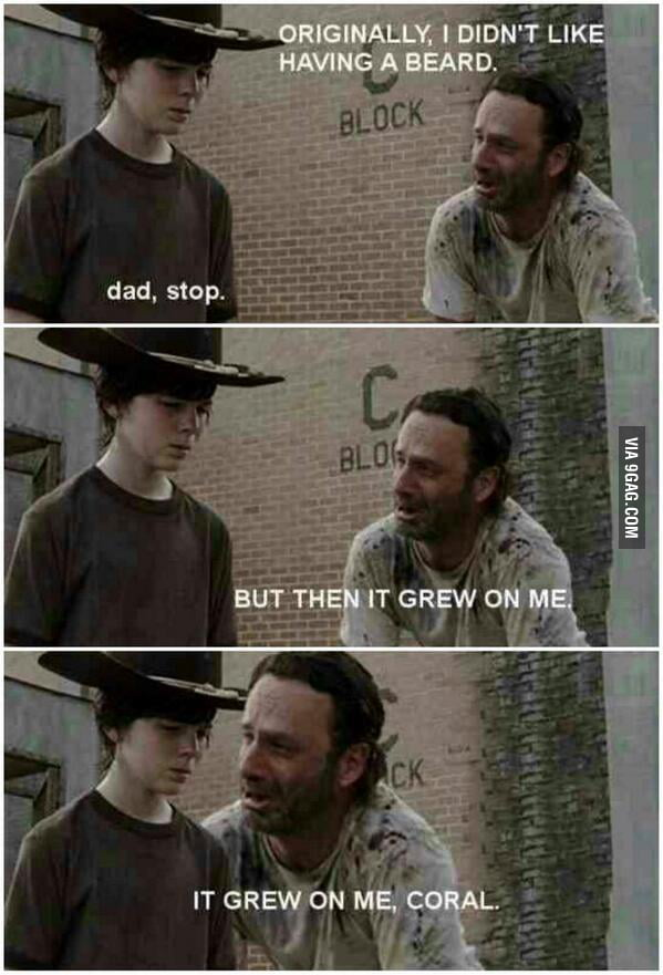 It grew on me Carl...
