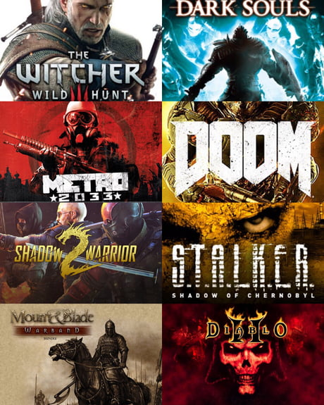 📌 Dear 9gag, I'll be home recovering from surgery and need game suggestions. These are my favorite series. Thanks! (Platform: PC)