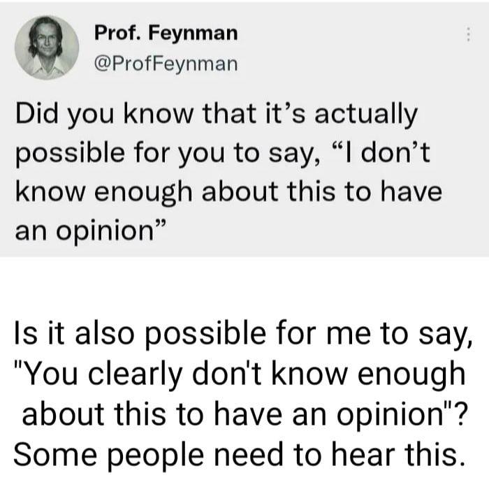 Please, answer me Professor...