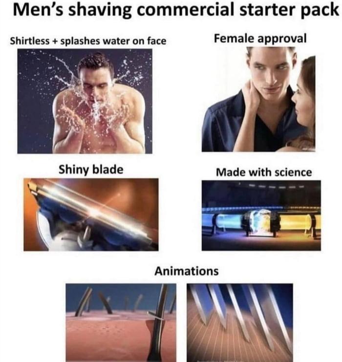 Men's shaving commercial starter pack