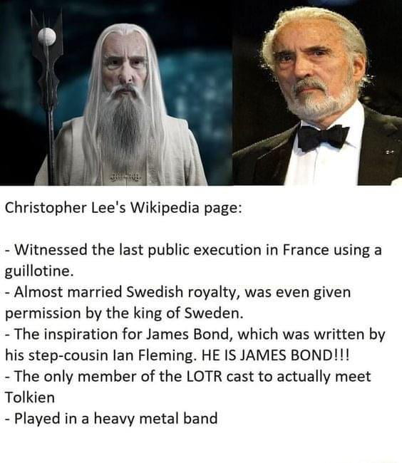 Christopher Lee is a legend