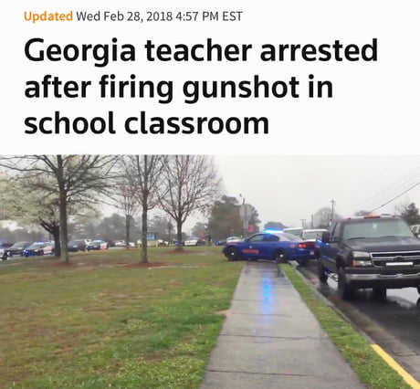 Teacher carrying gun law hasn't even passed and this happens