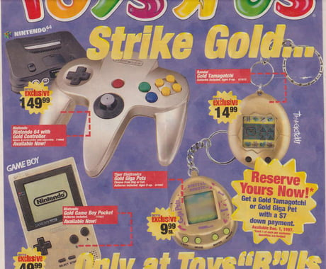 1997 holiday ad from ToysRUs