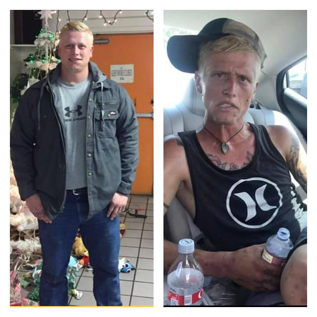 Mother shows what seven months of heroin and meth addiction can do