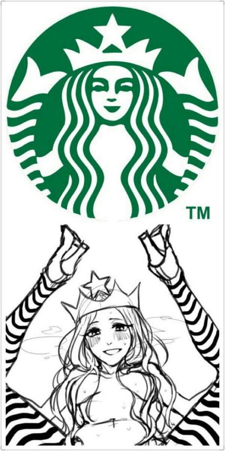 the real logo of starbucks 9gag the real logo of starbucks 9gag