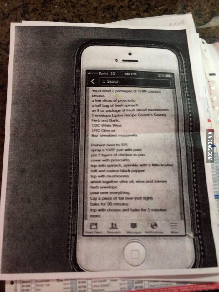 Mom photocopied her phone because she didn't know how to screenshot