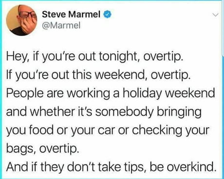 Spread the cheer folks.  Be nice to customer service people who work tonight and tomorrow.