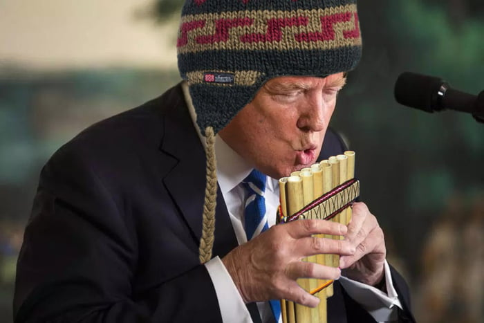 funny - Donald Trump's Awkward Water Bottle Moment Sparked Glorious Photoshop Battle