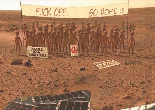 NASA robot on mars