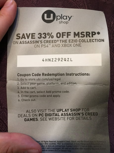 Coupon Code For Assassin S Creed The Ezio Collection Ps4 And Xbox 1 For Whoever Wants It Happy Holidays 9gag