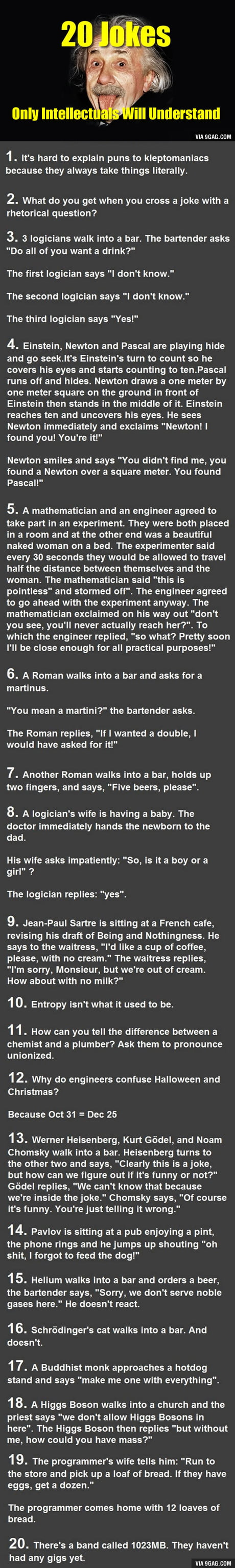 20 Jokes That Only Intellectuals Will Understand   20GAG