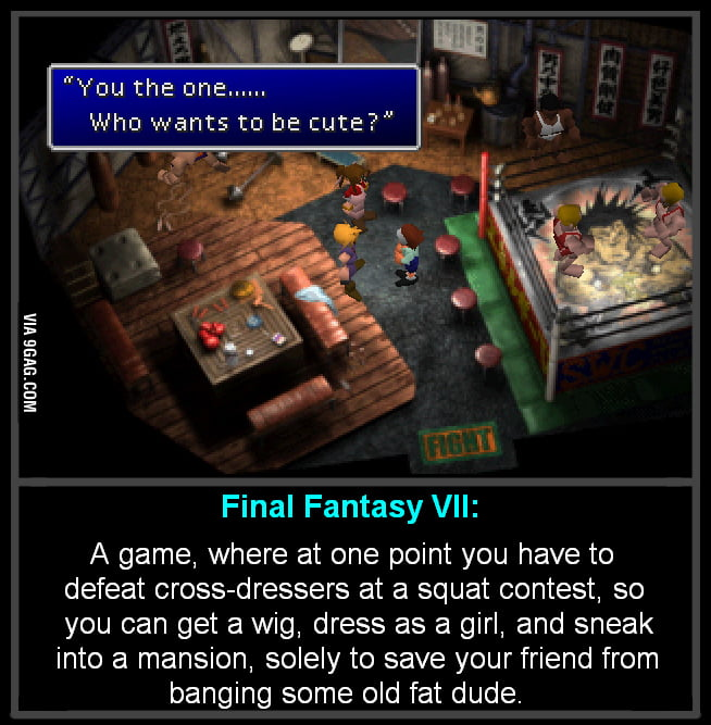 One of the several reasons FFVII is such a fantastic game.