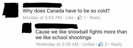 Snowballs thrown!