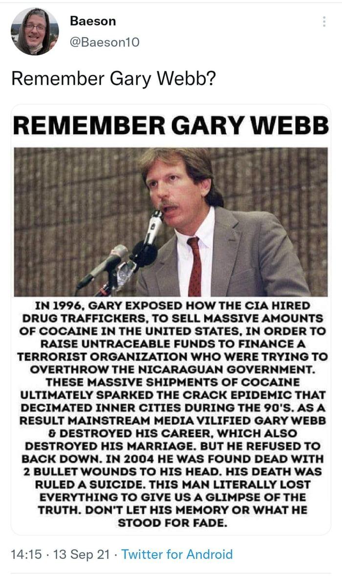 Remember Gary Webb?