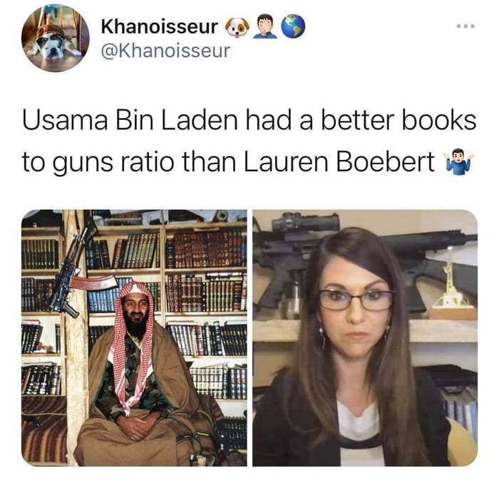 Bin Laden is nite educated than Lauren Boebert