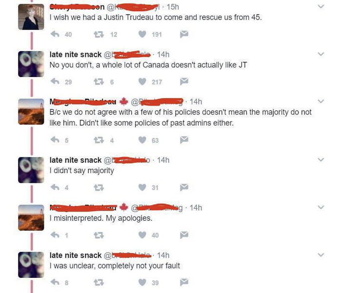 Two Canadians in heated political debate on social media