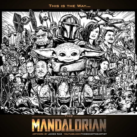 The Mandalorian Season One Art By James Raiz 9gag