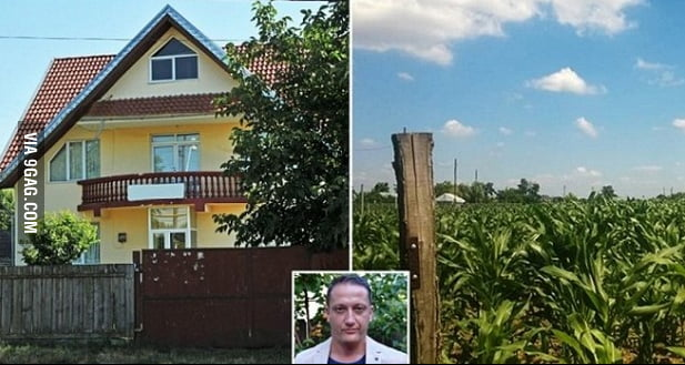 So this man in Romania had his house stolen... and this is what he found in its place