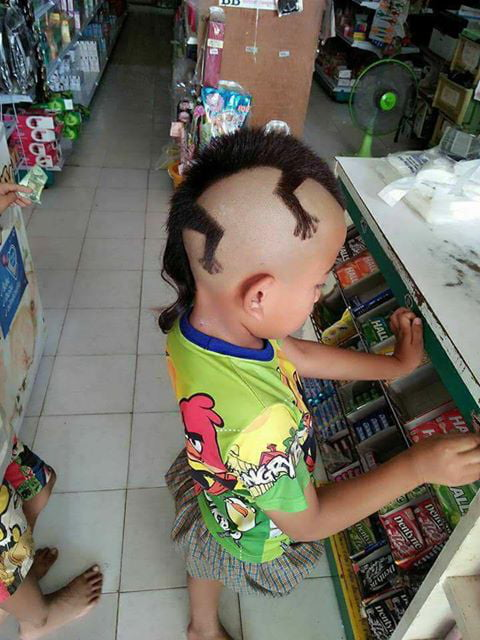 What does he say to the barber?