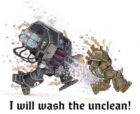 Wash the unclean !
