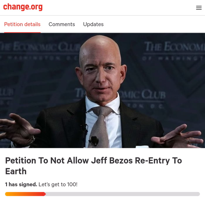 Let's Keep Jeff Bezos Out There