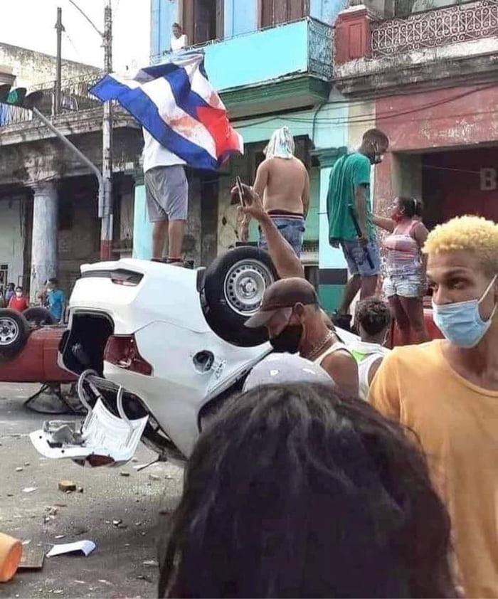 Cuba in uproar against the communist regime.