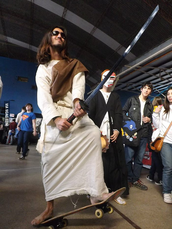 Jesus riding a skate with a katana and sunglasses, your argument is invalid!