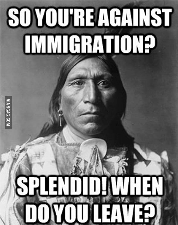 Someone posted this being against Immigration reform... a guy responded with this.