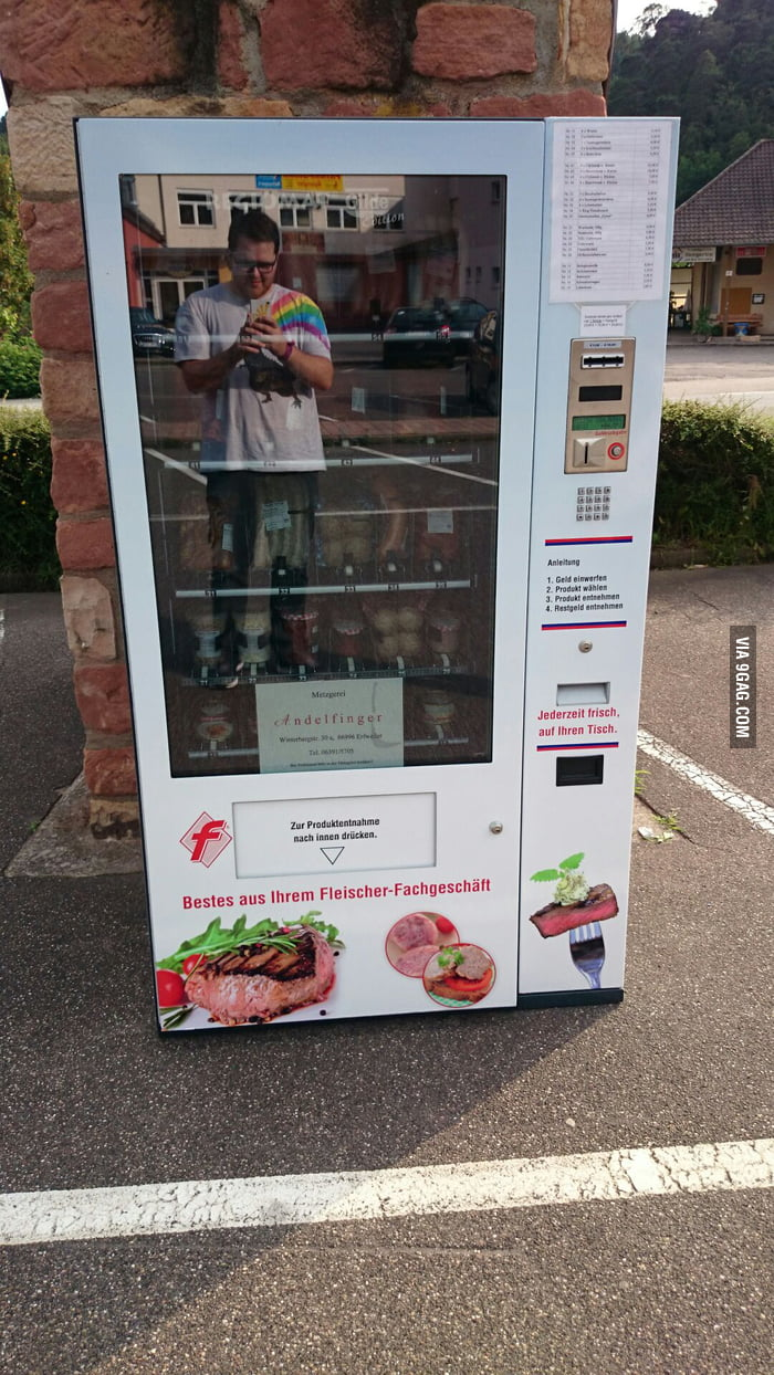 Only in Germany: a vending machine for sausages and meat