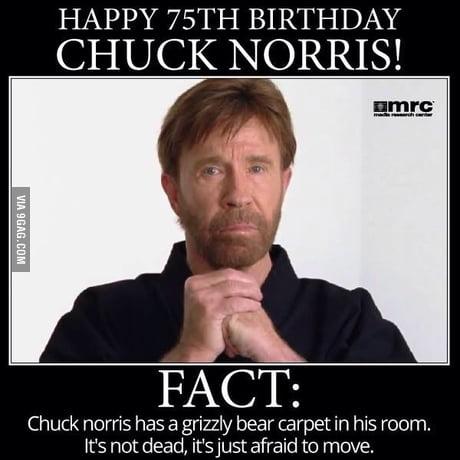 Happy Birthday Dear Birthday Chuck Norris Week A Sir Unknown Event Imgflip