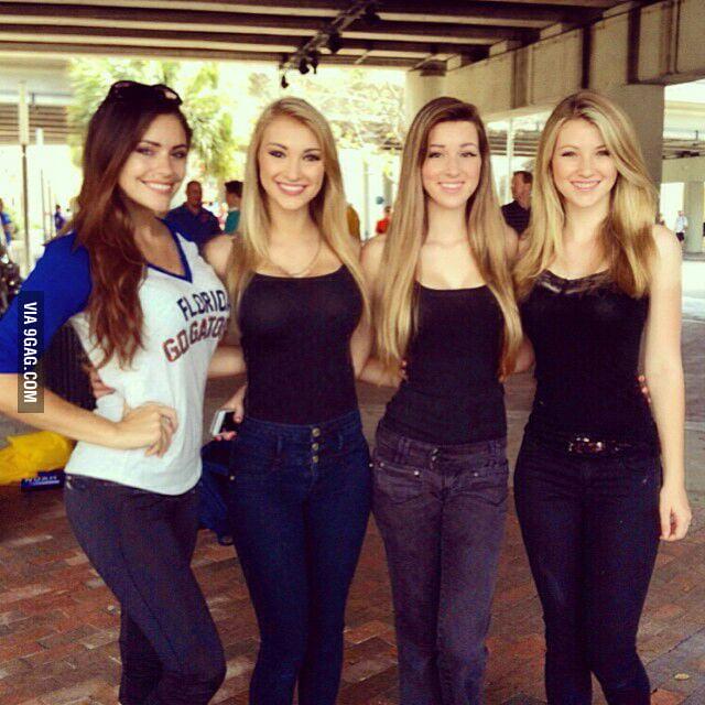 Anna Faith Carlson and her friends