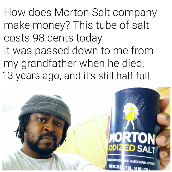 Lifetime supply of salt