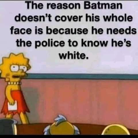 Why Batman doesn't cover his whole face ?