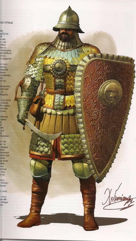 The Cataphract armor of Byzantine Empire.