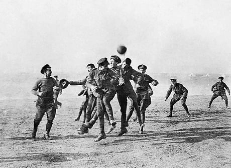 103 years ago today, English and German soldiers laid down their arms to play a game of football during WW1.