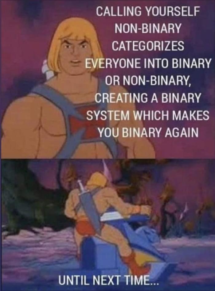 Says the white cisgender male