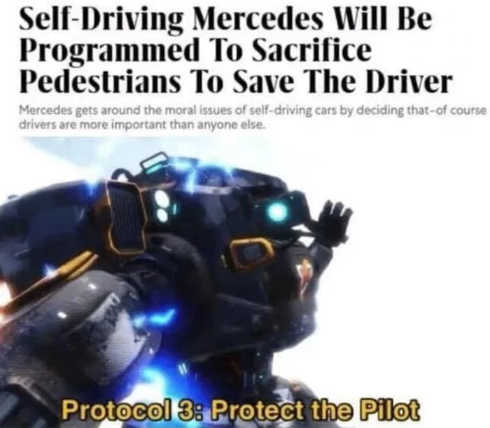 If there is a cop on pedestrian then execute order 66
