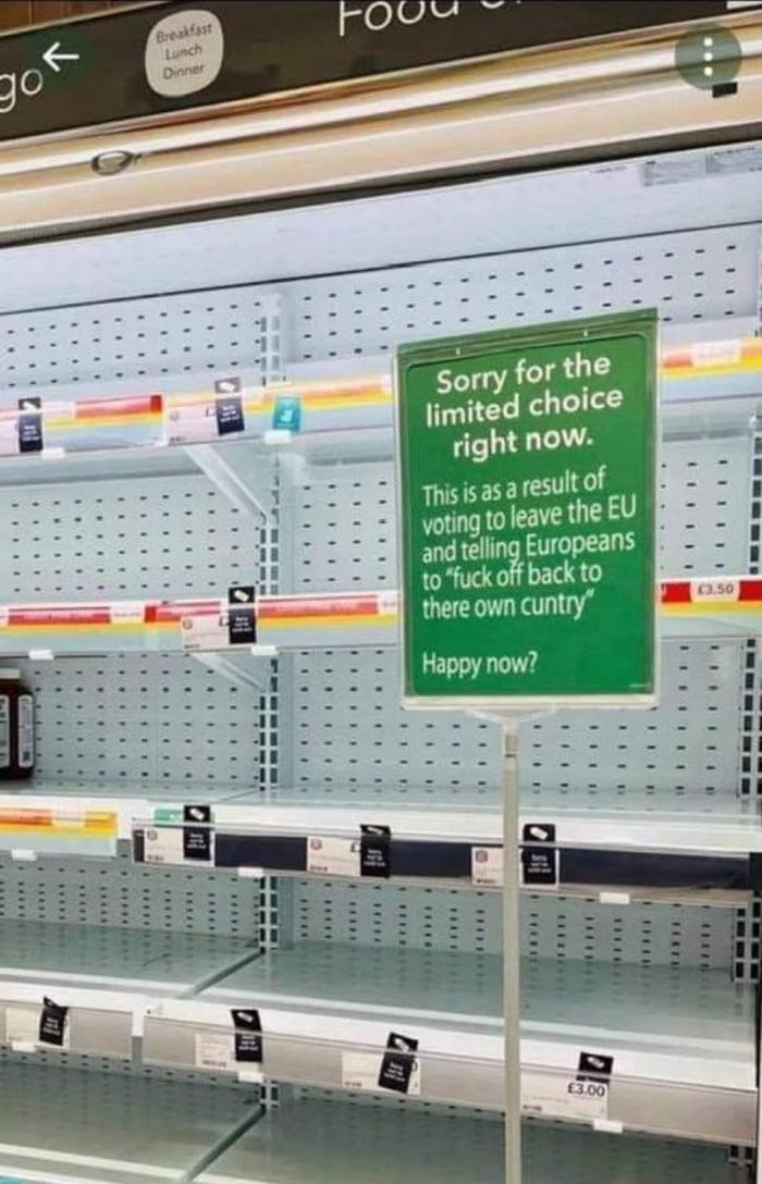 British supermarkets right now...