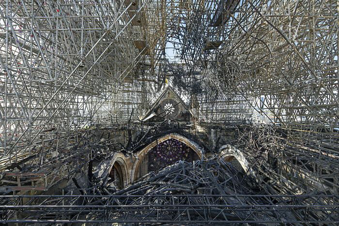 What The Roof Of Notre-Dame Currently Looks Like