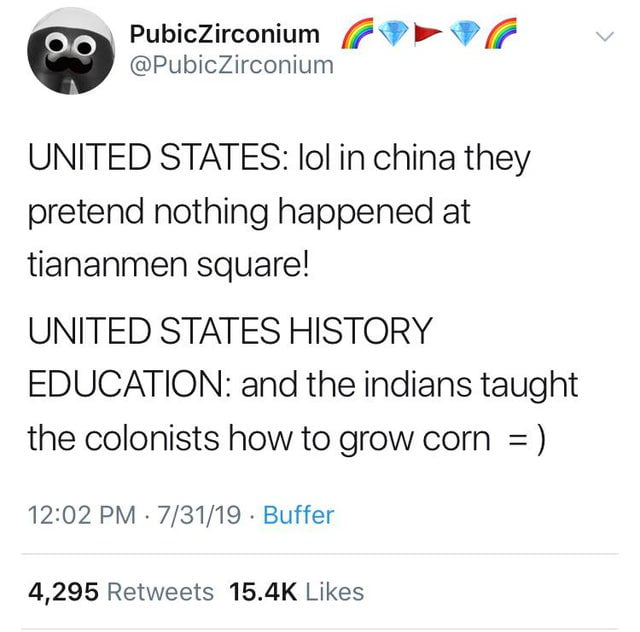 And then the Natives moved to Oklahoma, where they lived happily ever after