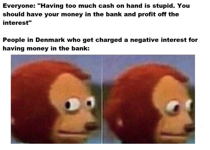 If you have over 250.000DKK ($40,800), the bank will charge you 0,60% of it