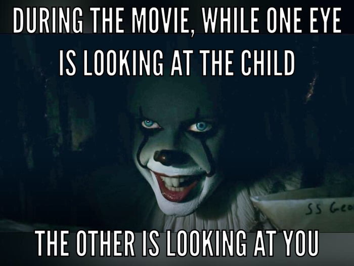 Since I noticed that, the movie became much more scary...
