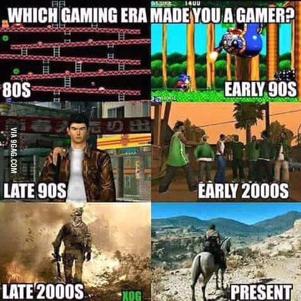 Which era made you a gamer?