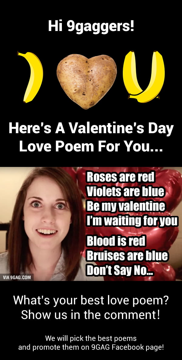 9GAG Valentine's Day Poems Competition