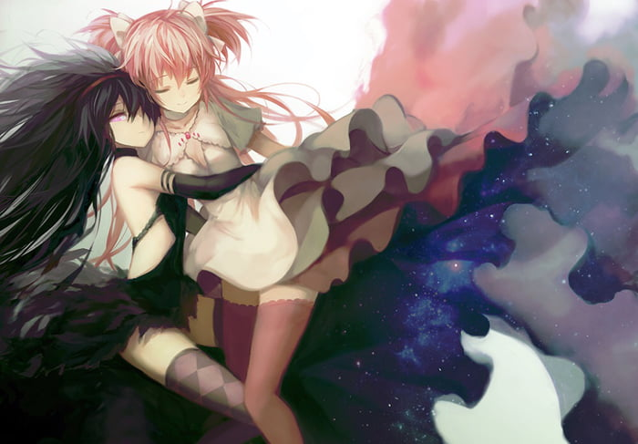 """If Madoka simply wished (""""all witches disappear from past-present-future""""), rebellion wouldn't happen, she made a mistake to wish (""""i be able to disappear witches""""), she shouldn't have made herself a law of universe"""